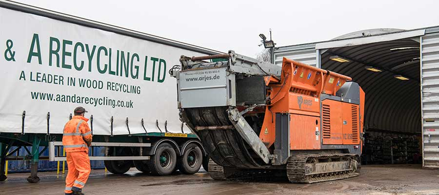 A&A Recycling Curtainsider and Arjes